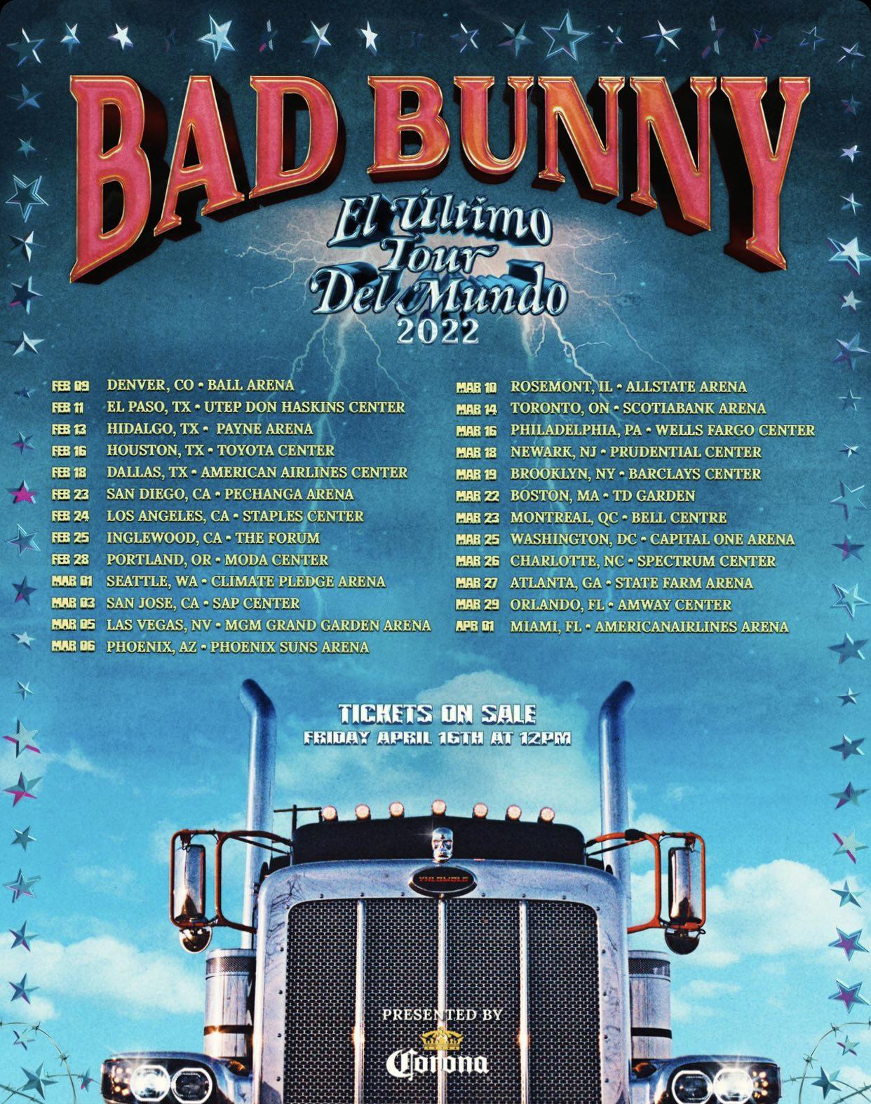 bad bunny tour